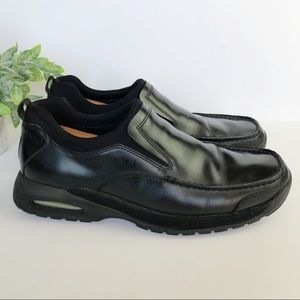 Cole Haan Black Leather Nike Air Slip On Shoes 9.5
